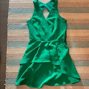 "Adelyn Rae Polyester Green 18.5"" Length Dress- New"